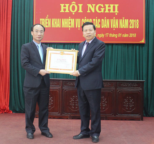 Triển khai nhiệm vụ công tác Dân vận năm 2018