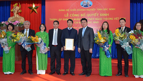 Thành lập Đảng bộ Ngân hàng Thương mại cổ phần Ngoại thương Việt Nam (Vietcombank)-Chi nhánh Bắc Ninh
